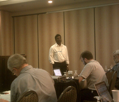 Sridhar Anandakrishnan (Penn State) talks to the audience about Active