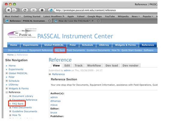 IRIS PASSCAL website | PASSCAL Instrument Center